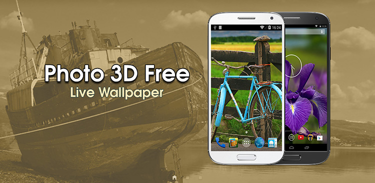 Logo Photo 3D Live Wallpaper FREE